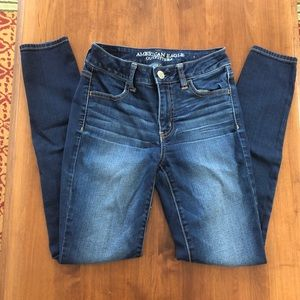 American Eagle High Rise Jegging Navy